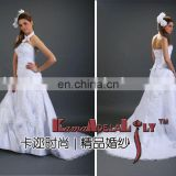 EB306 Elegant organza lotus leaf lace mariage bridal dress multi-layer party dress prom dress