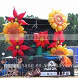 Beautiful hanging inflatable flowers for stage decoration