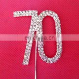 wedding cake topper cake Insert Card wedding crystal rhinestone cupcake toppers