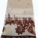 Crystal Stones Hand Work New Design Big George fabric Wrappers