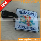 Custom logo cheap luggage tag with soft PVC/paper