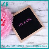 Black Felt Oak Letter Board