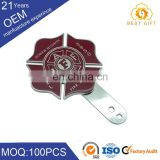 Top quality lotus badge enamel fish badge