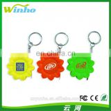 Winho Promotional Flower shape Measure Tape Keychain