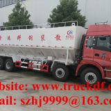 High quality and competitive price FOTON AUMAN 8*4 LHD 40m3 20tons bulk feed delivery truck for sale