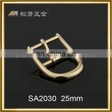 Song A Metal thin wire tiny belt pin buckle 25mm high heel shoes bent pin buckle
