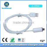 Fast Charging Data Cable Male A to Micro B USB 2.0 White Cable with Fashion Blue LED Light in Mobile Accessories