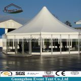 Strong aluminum frame hexagonal event tent, white wedding marquee tent manufacturer in Guangzhou factory