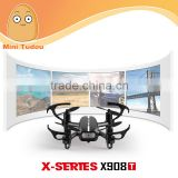 Mini Tudou camera toy 5.8G FPV Live LCD Transmitter Nano Drone MJX X908T FPV HD Camera mini quadcopter With Frame
