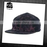 2015 fashion style printed flame two sided 5 panel hats
