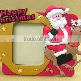 3D Christmas promotional decoration PVC photo frame with magnet(BS-JL-PF-14120505)