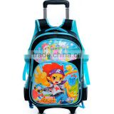 Detachable Rolling Wheeled Child School Book Bag Backpack Day Backpack With Wheels Child