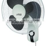 16 inch hot selling wall fan with black color and remote control plastic and mental baldes ok wholesael with cheap price