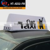 Hot sale led sign advertising taxi car roof light box