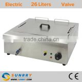 Countertop square frying cooker one tank one basket flat deep fryer for fried chicken meat (SY-TF26F SUNRRY)