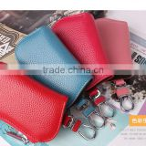Fashion wholesale high quality Practical custom key holder with car logo geunine leather