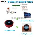 Best price remote call bell button system for restaurant equipment with led dispaly receiver