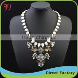 Colorful diamond women collar necklace earrings set jewelry in