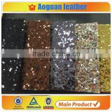 2016 fashion pu glitter fabric 3d glitter fabric wallpaper with coating backing glitter leather                                                                         Quality Choice