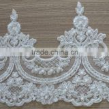 Wholesale Embroidery Bridal Lace Trim With Sequins and Beads