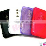 for HTC Shooter evo 3d case high clear back cover tpu case,black,rad,pink,blue,white,Purple, gray s line