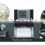 Wooden desk sets&Pen holder,clock,calendar:BF09026-a2