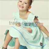 Sky blue one piece Children's summer dress kids beach clothing fancy dresses for baby