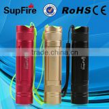 2014 best selling USA imported CREE XPE LED rechargeable 3w 220lm Colorful mini flashlight with CE