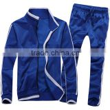 100% Polyester Tricot Tracksuit/Training Suit/Jogging Suit in Blue/White color combination
