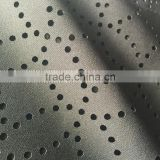 laser punching double sided 95% polyester 5% spandex knit fabric