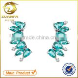 wholesale alibaba women sterling silver bridal cubic zirconia cuff earrings                                                                                                         Supplier's Choice