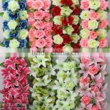 wholesale good quality personized artificial flower wall for stage background decoration