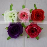 high quality small rose flowers artificial flowers head brooch festival home wedding decoration flower silk flower