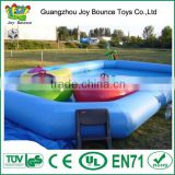 customized giant swimming water pool with bumper boat inside , inflatable water pool for sales