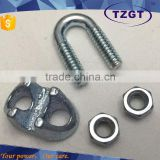 ZHEJIANG TZGT Hot Sale Power Hardware Galvanized US Type Malleable Wire Rope Clip