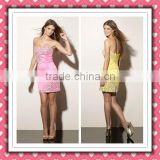 2012 New Arrival Modern Sexy Short Satin Luxury Full Beaded Cocktail Dress Homecoming Dress Made In Suzhou MLC-120