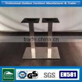stainless steel base restaurant dining tables and chairs