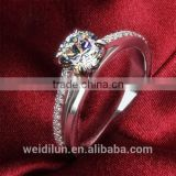 fashion jewelry 2016 925 silver imitation diamond cluster ring for wedding engagement