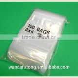 "wholesale zlb-20 ZIPLOCK Bags 3x4 Clear Poly BAG RECLOSABLE 100 Baggies 2Mil 3""x4"" ZIP LOCK"