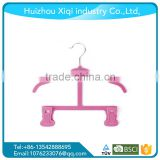 velvet suit hanger for kids ,Pink Velvet baby mobile hanger for kids clothes, hanger loop