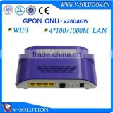 GPON ONU with 4GE Data Ports/WiFi Function Wireless Router WiFi Modem Compatible with Huawei/ZTE/Fiberhome OLT Made in China