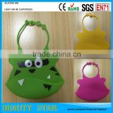 Wholesale Cute Food Grade Waterproof silicone baby bib,Promotional silicone baby bib factory