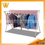 X shape Garment Rack, Convenient Double-Pole Folding Clothes Drying Rack, Scalable Balcony Clothes Drying Rack