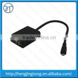 1080P Mini HDMI Male to VGA Female Cable Video Converter Adapter HD Conversion Cable with Audio