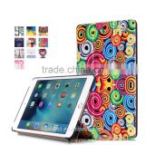 IFC096 With Pattern Magnet Flip cover for iPad Mini 4, Smart case for iPad,stand PU leather cases cover for iPad,print logo