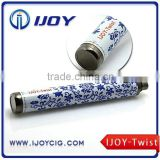 IJOY e cigarette colorful ego Twist battery 1600mAh variable voltage ego C twist battery IJOY-Twist
