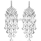 Bridal Earrings Fashion Jewelry Sparkling Cubic Zirconia Chandelier Wedding CZ Earrings for Women