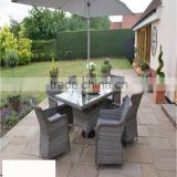 New Outdoor PE Plastic Rattan Material Dinner Table Set