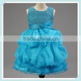 Stunning sweetheart blue beach wedding flower girl dresses girl wedding dresses kids party dress In apparel