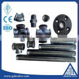black malleable iron cross reducer bushing cap coupling elbow nipple plug tee flange pipe fitting made in china